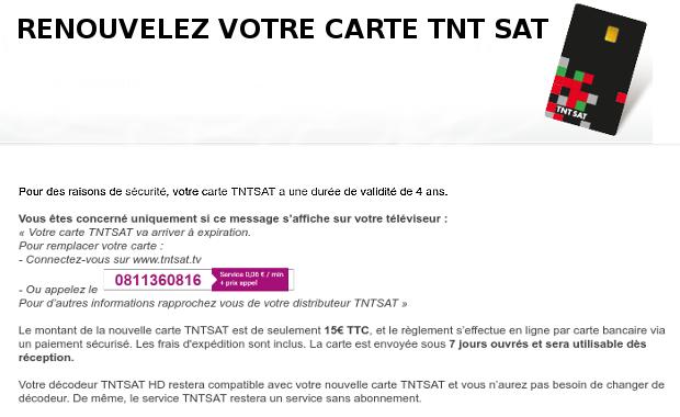 renouvellement TNTSAT